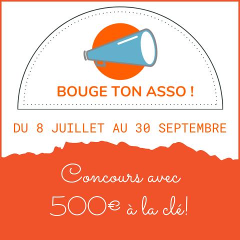 Fin du concours BOUGE TON ASSO: 500€ à la clé!